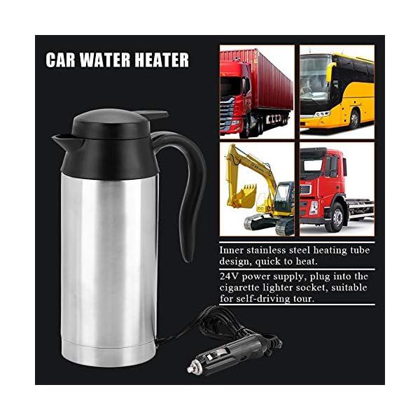 51XOZBpVC1L 750ml Auto Elektrische Wasserkocher,Edelstahl 24V Zigarettenanzünder Thermobecher Wasserbecher für Wasser Kaffee…