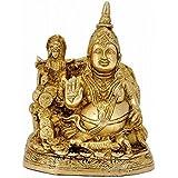 "Aone india Kuber and Mata Lakshmi Brass Sculpture Height-6.25"" | Home Decor"