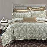 North Home Regency 100% Cotton 7pc Duvet Cover Set Queen,