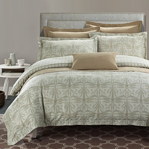 North Home REGENCY0DCKG 7 Piece Regency Cotton Duvet Cover Set, King - Regency King Duvet Cover