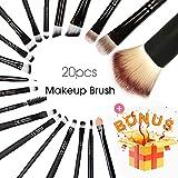 Best Eye Shadow Brushes - BEAKEY 20+1 Makeup Brush Set Professional Eyeshadow Brush Review