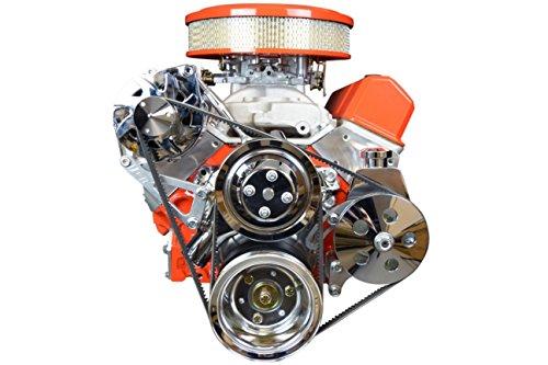 SBC Billet Adjustable Alternator Power Steering Bracket Kit LWP Chevy Small Block 551476 (Billet Alternator Bracket)