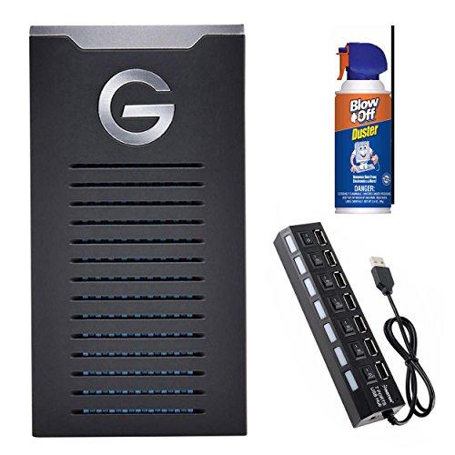 G-Technology G-DRIVE mobile SSD R-Series Portable Drive (1TB/USB-C) Bundle