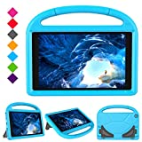PC Hardware : Kids Case for F i r e H D 10 2017 Tablet (5th Generation, 2015 Release / 7th Generation, 2017 Release), Portable Shockproof Convertible Handle Light Weight Cover with Stand for All New F i r e H D 10 Inch Tablet (Blue)
