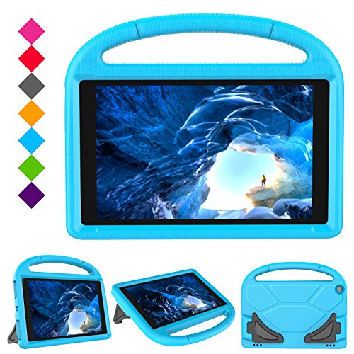 Kids Case for F i r e H D 10 Tablet (5th Gen, 2015 Release / 7th Gen, 2017 Release),Friendly Shock Proof Light Weight…