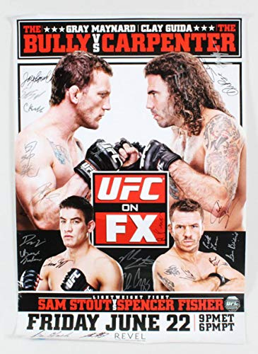 UFC on FX: Maynard vs. Guida Multi Signed Poster LE 50/125 COA UFC Autographed UFC Event Poster