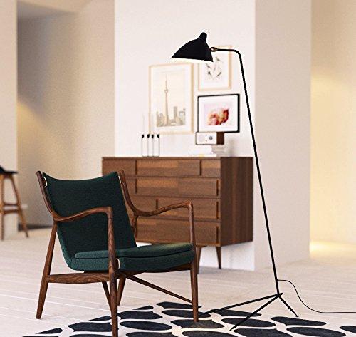 (MFL-1 Floor Lamp - One Arm - Restoration Vintage Light Mid century modern furniture Scandinavian (Black))