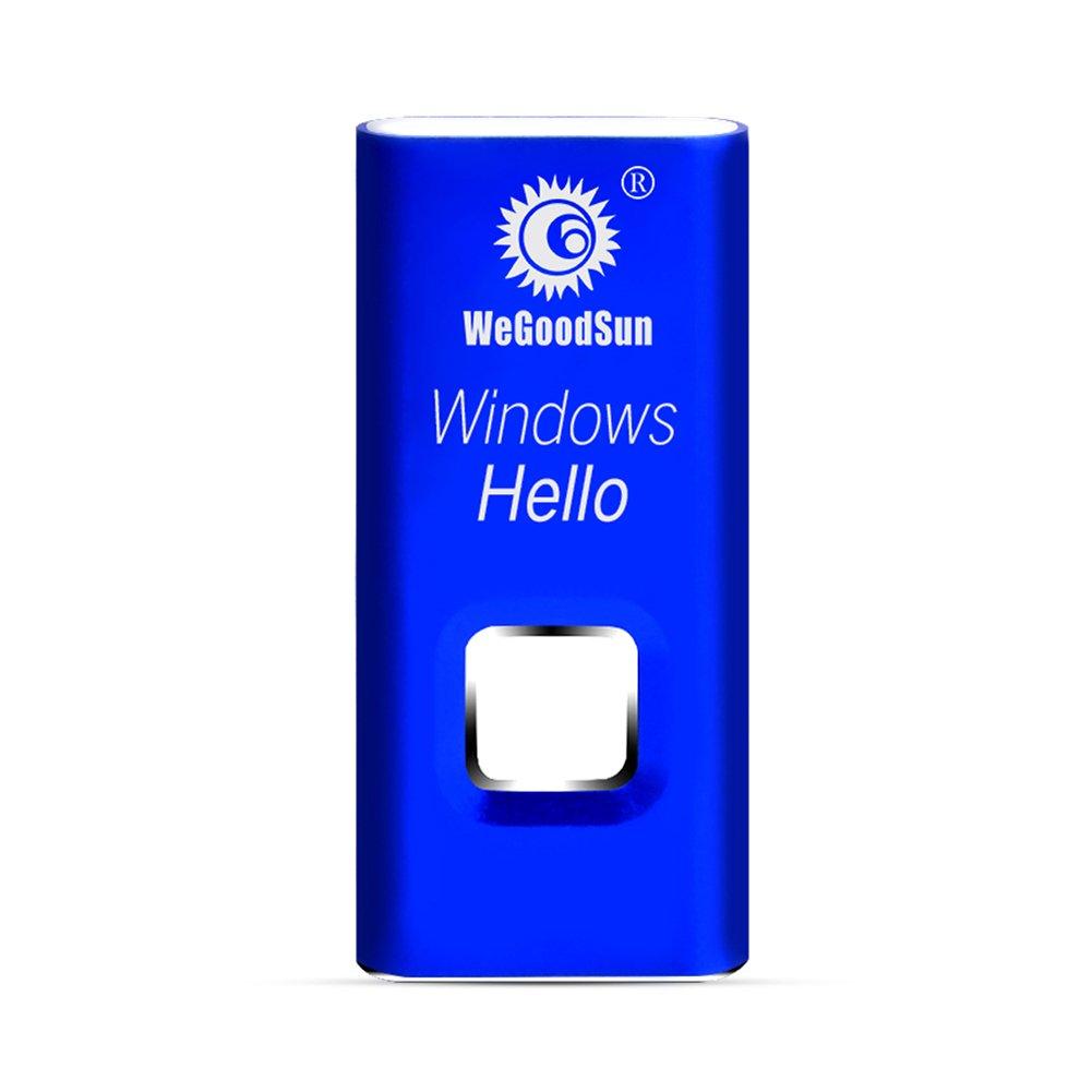 WeGoodSun Windows 10 Laptop Smart Fingerprint Reader EAST-2010 Windows Hello USB Laptop Lock Biometrics Login File Encryption Payment (Blue)