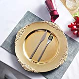 Tiger Chef Gold Charger Plates - Antique Plate