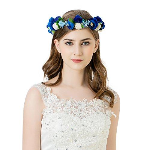 awaytr-flower-wreath-headband-crown-floral-garland-for-festival-wedding-dark-blueroyal-bluewhite