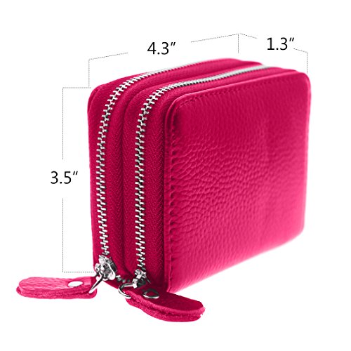 Womens Wallet Small double-zipper Wallet Mini Wallet Card Holder coin purse by QinFeng (Image #4)
