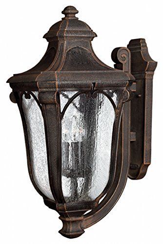 Hinkley 1319MO Traditional Three Light Wall Mount from Trafalgar collection in Bronze/Darkfinish,