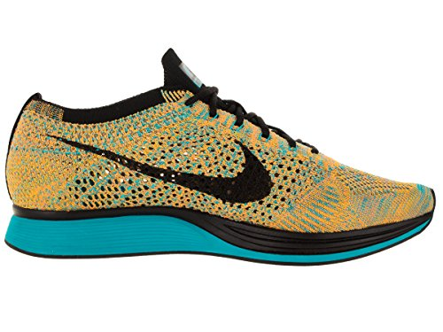 Unisex Flyknit Racer zapatillas de running Bright Citrus/Blue Lagoon/Laser Orange/Black