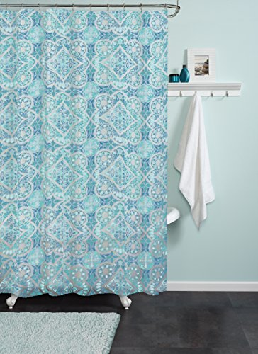 Zenna Home India Ink Morocco Peva Shower Curtain Liner
