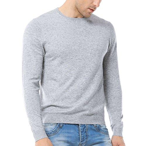 Silk Blend Sweater Dress (Just No Logo Men's Wool Blend Solid Crew Neck Sweater Pullover(Light Gray,S))