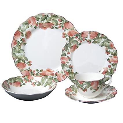 Amazon.com | Nikko Precious 5 Piece Place Setting: Dinnerware Sets ...