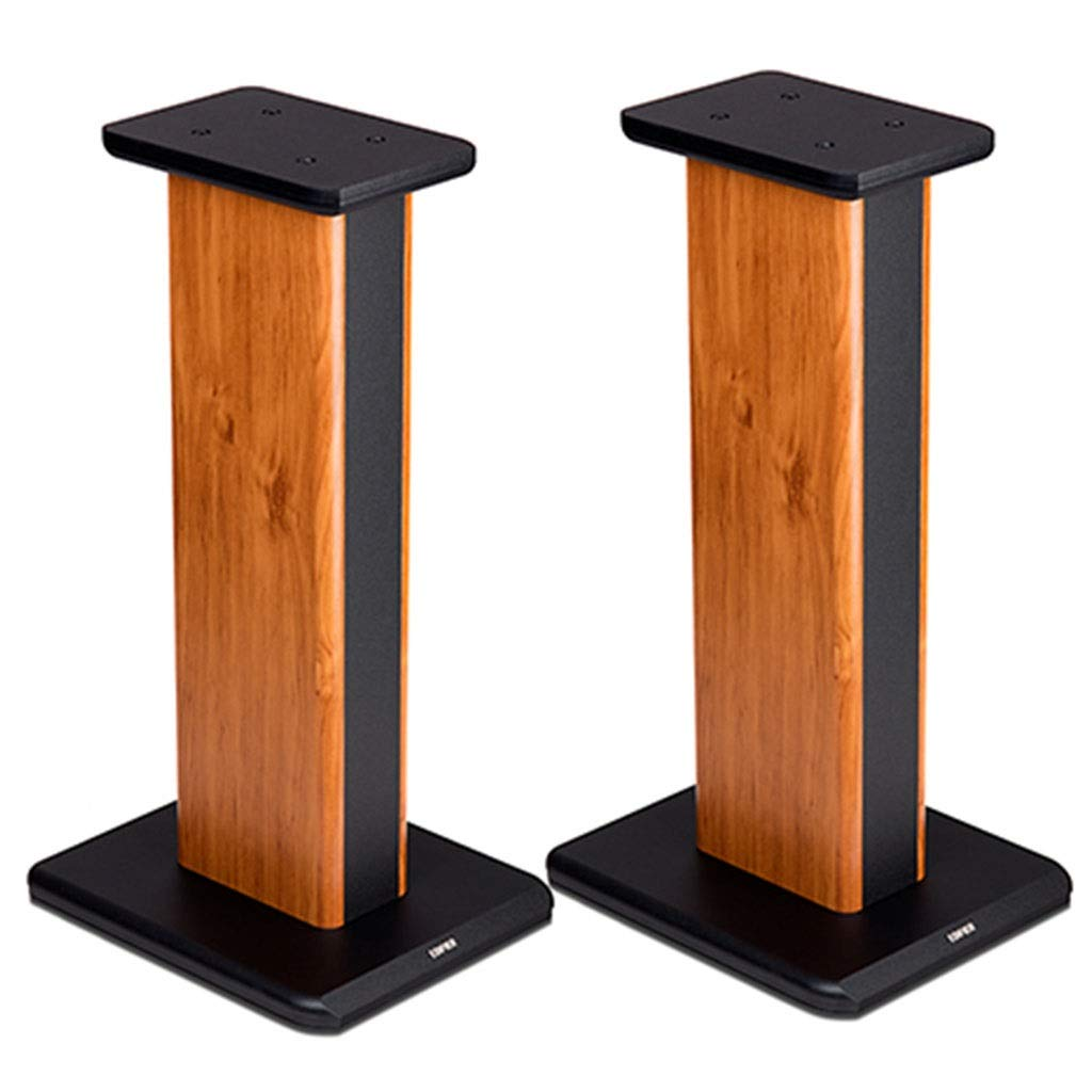 Speaker Stands Floor Solid Wood Bracket A Pair of Speaker Brackets Living Room Decoration (Color : Brown, Size : 65cm (25.6 inch)) by Speaker Stands