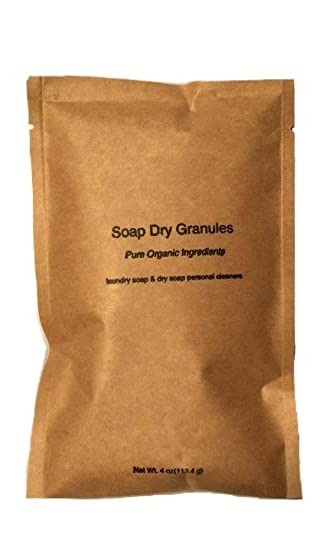 Jabón puro de gránulos con ingredientes para hacer detergente ...