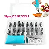 Etopars 38pcs Nozzle Silicone Icing Piping Cream Pastry Bag Set Cake Decorating Tool