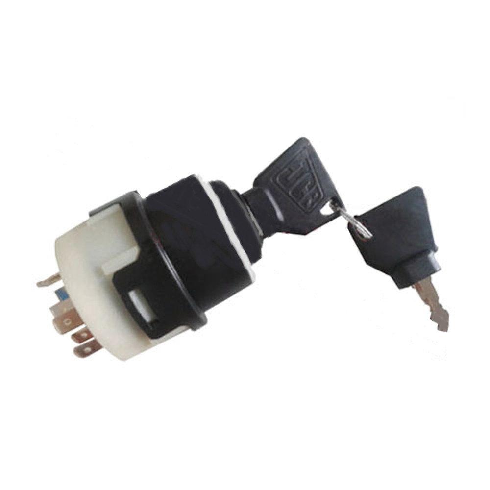16000500 JCB 3/Cx 4/CX allumage Interrupteur avec 2/cl/és 701//80184/50988/85804674/JCB New Holland