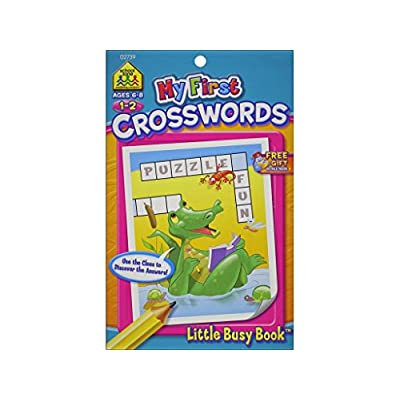 School Zone Pub LBB My First Crosswords Bk Little Busy Books: Arts, Crafts & Sewing