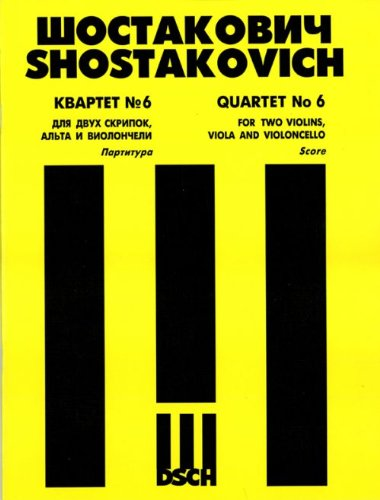 String Quartet No. 6. Score.