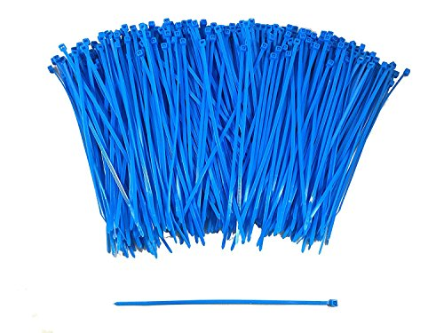 """400 Piece - 6"""" Contractor Strength Multi-Purpose Zip Ties for Organizing Wires and Cables in Home and Office by Blue Collar Tools (6 inch)"""