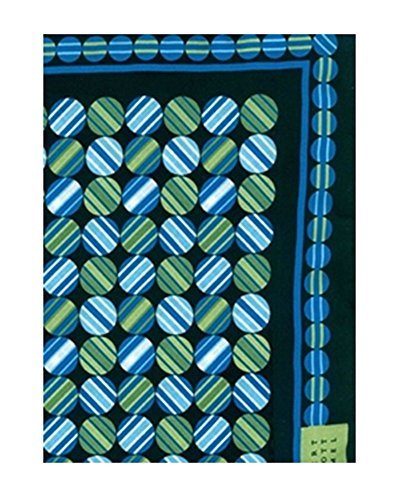 "Robert Talbott Teal Handrolled Pocket Square Square 16"" from Robert Talbott"