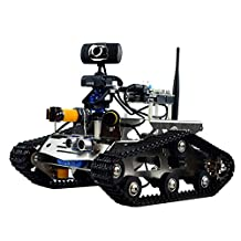 Kudao SM5 TH Robot Car Kit for Arduino, HD camera wireless wifi arduino DS robot Smart Car kit with antenna, Obstacle avoidance,tracking compatible with Android, and IOS and other smartphone
