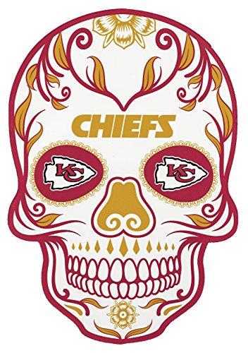Skull Head City Stick - Applied Icon NFL Kansas City Chiefs Outdoor Small Dia De Los Muertos Skull Decal