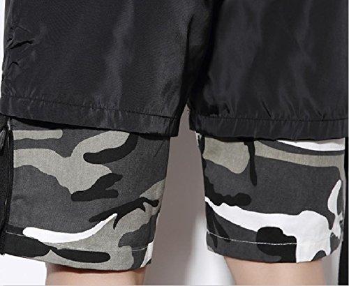 SportsX Mens Multicam Straight-Fit Plus Size Stitch Mid Length Short Grey M by SportsX (Image #4)