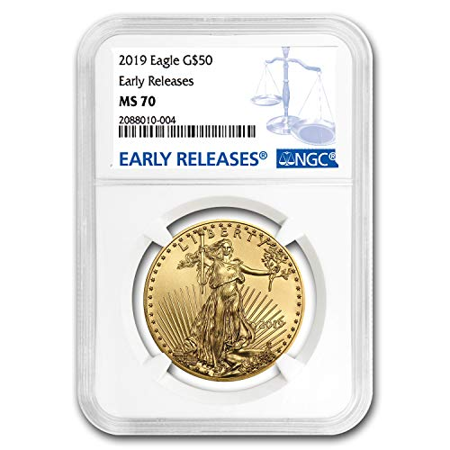 (2019 1 oz Gold American Eagle MS-70 NGC (Early Releases) 1 OZ MS-70 NGC )