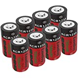 CR123A Rechargeable Batteries, EaseBuy 8-Pack 700mAH RCR123A 3.7V Lithium ion Camera Batteries Compatible with Arlo Cameras, Security System, Led Flashlight
