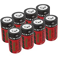 CR123A Rechargeable Batteries, EaseBuy 8-Pack 700mAH RCR123A 3.7V Lithium ion Camera Batteries Arlo Cameras, Security System, Led Flashlight