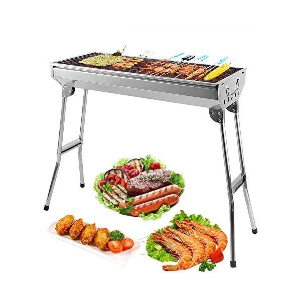 Mbuynow Barbecue Griglia a Carbone Professionale per 5-10 Persone, Utensile BBQ Grill Barbecue Carbone Pieghevole per… 1 spesavip