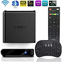 MaQue Android 6.0 TV Box, T95X Android TV Box Amlogic S905X 64 Bits and True 4K Playing and Mini Wireless Keyboard with Touchpad