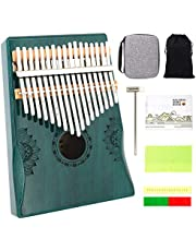 $23 » ARTOMN Kalimba 17 Keys Thumb Piano Musical Instruments,Portable Finger Piano Music Instruments for Kids and Adults,with Waterproof Protective Box, Study Instruction and Tune Hammer