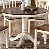 Signature Design By Ashley D583 15B Whitesburg Collection Dining Room Table Base Cottage White