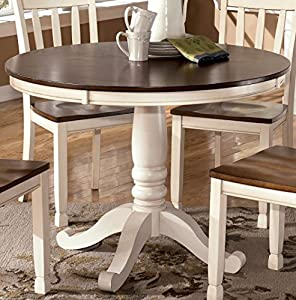 Round Dining Room Table Base In Two Tone Signature Design By A