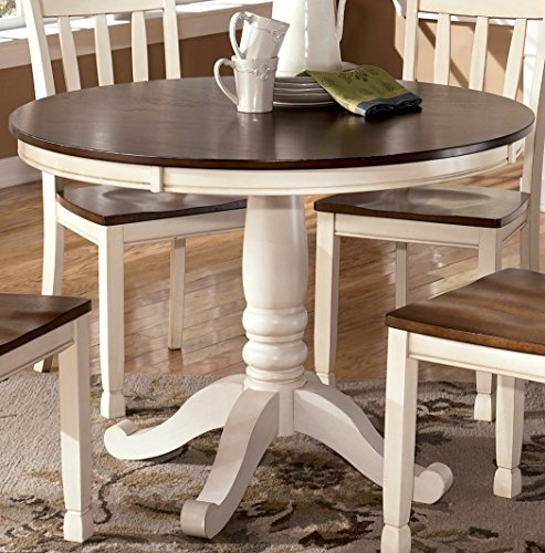 Signature Design by Ashley D583-15B Whitesburg Collection Dining Room Table Base, Cottage White