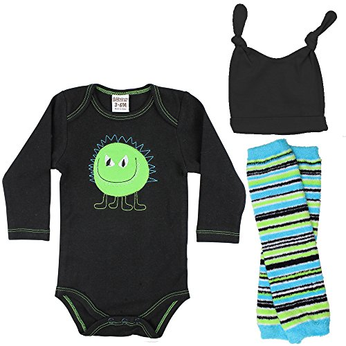 juDanzy Halloween & Christmas Baby Gift Box outfit set (0-3 Months, Green Monster) ()