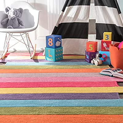 nuLOOM Pantone Colorful Stripes Kids Runner Rug, 2' 6