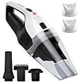 Handheld Vacuum Cordless, Holife 6KPA Hand Vacuum Cleaner Rechargeable Hand Vac, 14.8V Lithium with Quick Charge, Lightweight Wet Dry Vacuum for Home Pet Hair Car Cleaning (Upgraded Version)