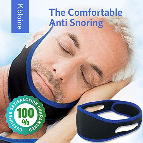 Anti snoring Chin Strap - Snore Stopper Strap - Best Adjustable Stop snoring Device - CPAP Chin Strap - Sleep aids Chin Strips - New Anti-Snoring Strap for Men Women jaw Support from Kblaine