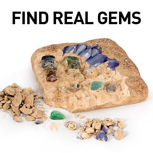51XOgIgC1yL - NATIONAL GEOGRAPHIC Mega Gemstone Dig Kit-Excavate 15 real Gems including Amethyst, Tiger's Eye and Quartz