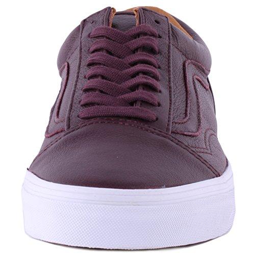 Vans U Old Skool, Chaussures de Sport Mixte Adulte Bordeaux