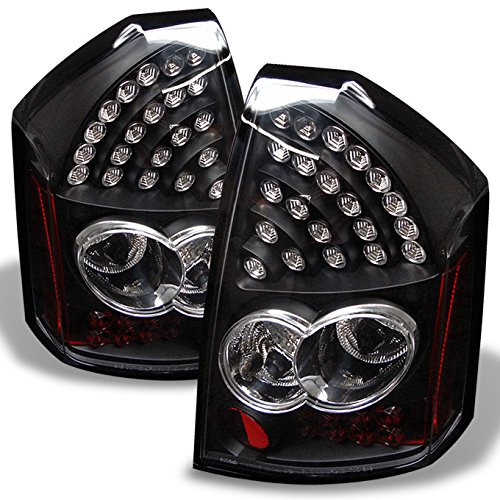 05-07 Chrysler 300 Rear Black LED Tail Light Brake Lamps Taillamps Replacement Pair Left + Right (300c Lamps Tail)