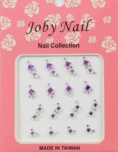 Nail Sticker/ Nail Art - Gemstone Collection - Purple Diamonds - Joby Nail