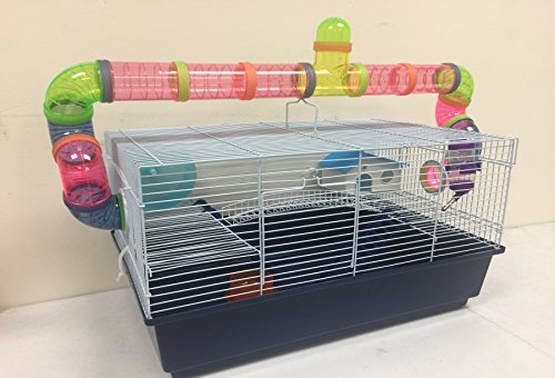 New Large Habitat Hamster Rodent Gerbil Mouse Mice Cage Long Crossing Tube With 5.5