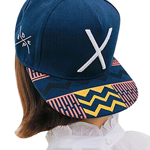 Pop Dance Costume (Cap ,BeautyVan 2016 New Fashion Hip-Pop Letter X Flat Hat Baseball Cap Hip-Hop Peaked Cap)